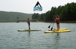 Let's SUP Stand Up Paddle School barragem meimão