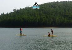 let's sup . praia fluvial . stand up paddle