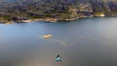 Let's SUP lagoa comprida serra da estrela stand up paddle passeio tours drone