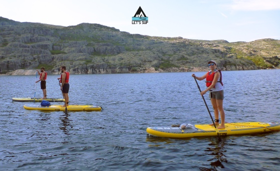 Let's SUP serra da estrela lagoa comprida stand up paddle school