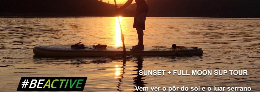 Let's SUP serra da estrela stand up paddle tour passeios lua cheia por do sol