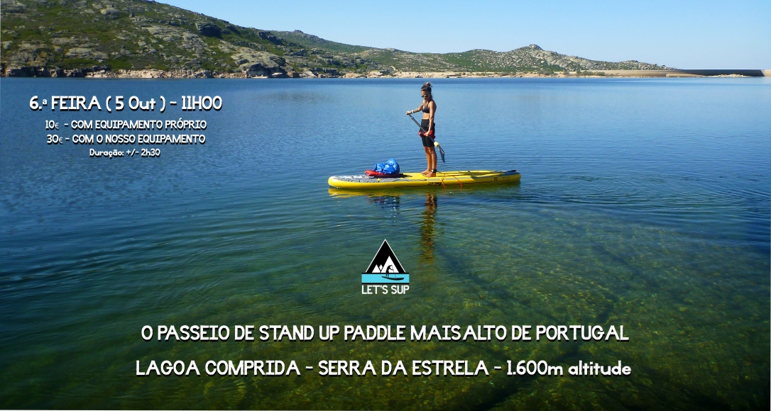 let's sup stand up paddle serra da estrela portugal highest sup tour