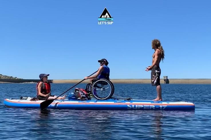 Let's SUP stand up paddle adaptado cadeira de rodas big mancha snowmancha