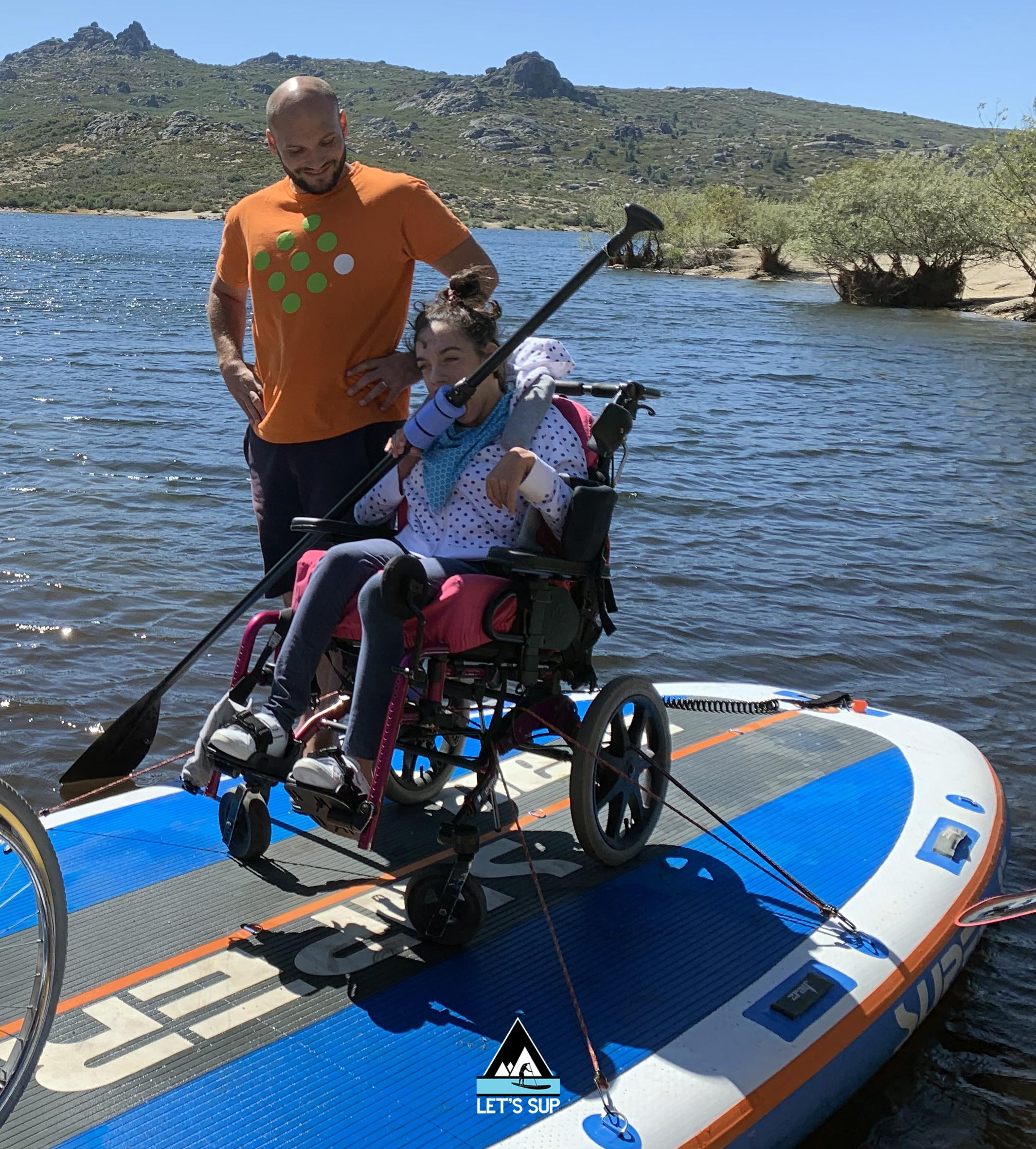 let's SUP stand up paddle adaptado desporto para todos adaptive vale do rossim serra da estrela turismo inclusivo